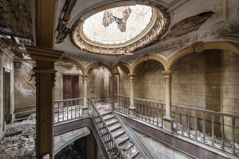 Stairwell from the Home Sweet Home series │ Courtesy of Romain Veillon