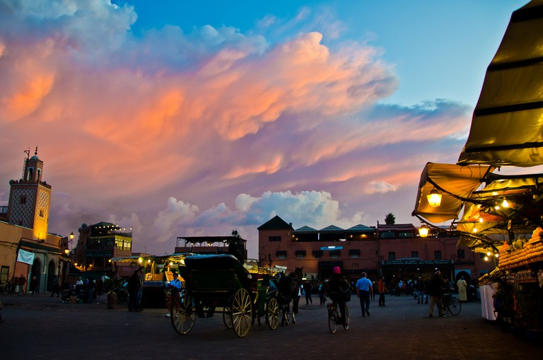 Djemaa el-Fna at sunset | © Michael Camilleri / Flickr