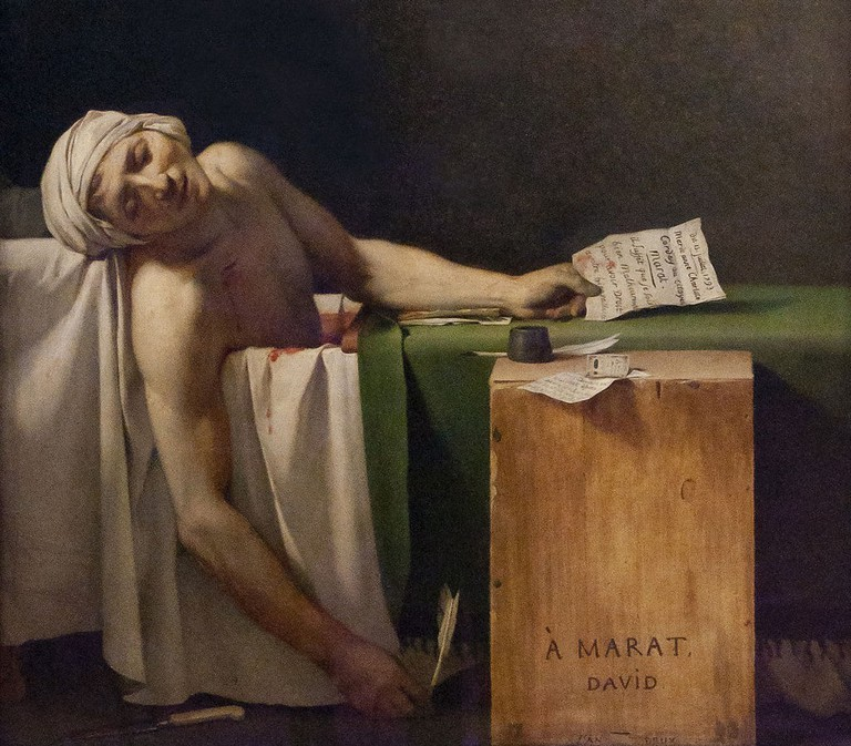 Detail from The Death of Marat by David │© Jacques-Louis David / Wikimedia Commons