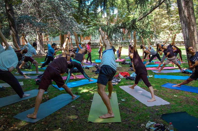 The Natural Yogi's class in the Retiro Park | © The Natural Yogi