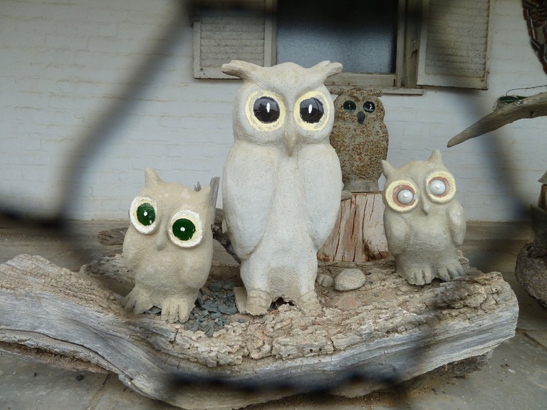 cement owls