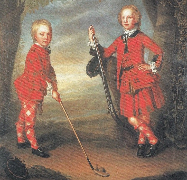 The MacDonald Boys Playing Golf In The 18th Century | © WIkiCommons
