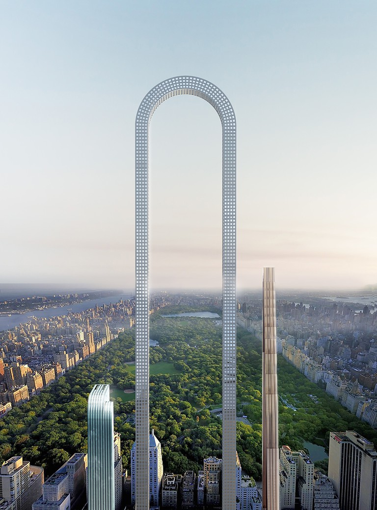 The Big Bend, if realized, could be the world's longest building © Ioannis Oikonomou, oiio architecture studio