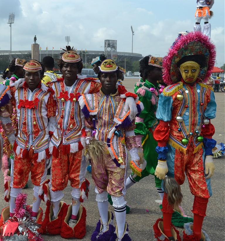 Masqueraders at Winneba Fancy Dress Festival, (c) Isola Iko / Flickr
