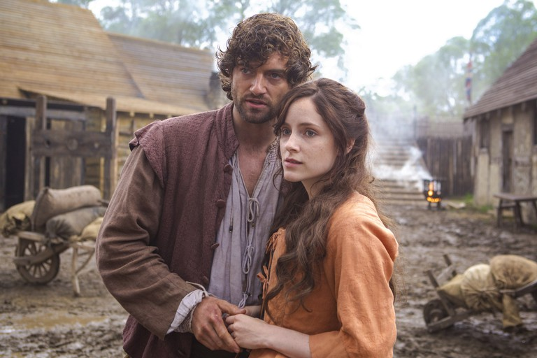Stuart Martin and Sophie Rundle in 'Jamestown'