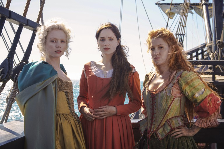 Naomi Battrick, Sophie Rundle and Niamh Walsh