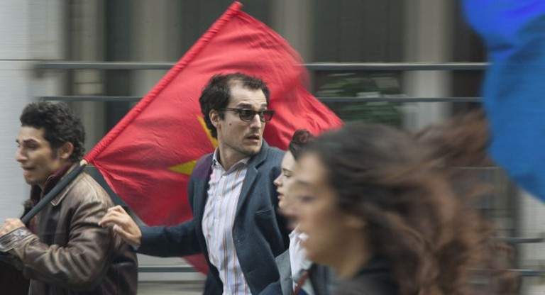 Louis Garrel as Godard in 'Redoubtable' | © StudioCanal