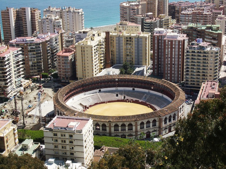 "<a href=""https://www.flickr.com/photos/marts-pics/"">Málaga's bullring, as seen from the Gibralfaro castle 