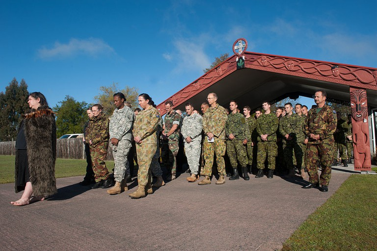 Powhiri Welcoming New Zealand Defence Force Contigents Onto A Marae | © Wikimedia Commons