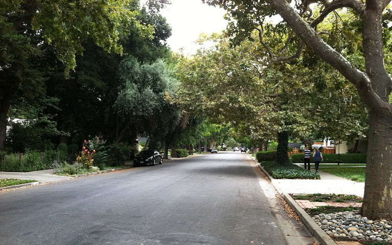 Cherry Avenue south of Britton Avenue in Willow Glen neighborhood in California, looking south