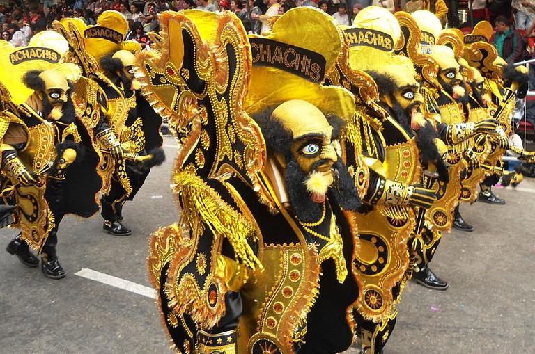 Morenada dancers carnival bolivia