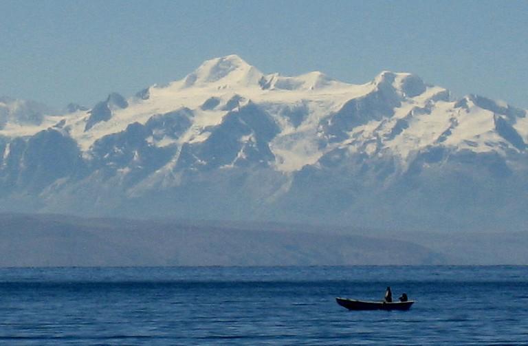 Mountains on Lake Titicaca