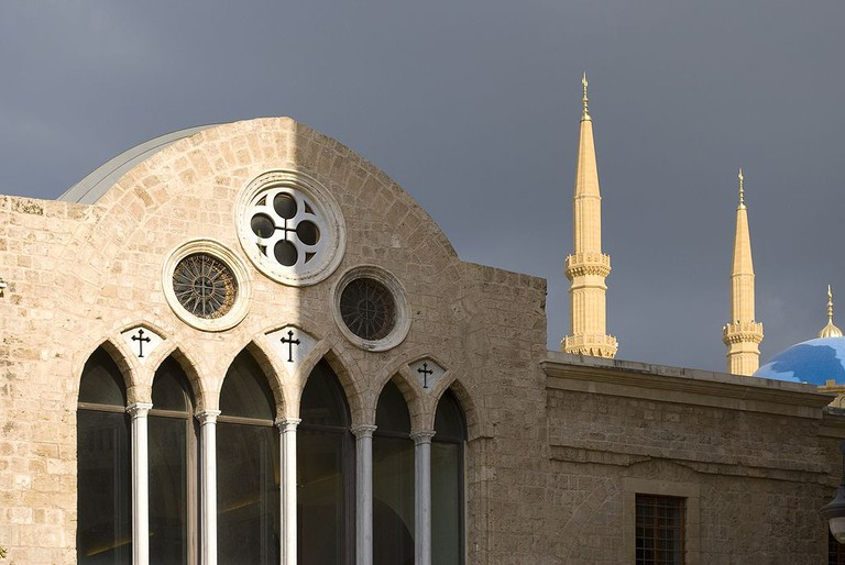 Church and mosque, Beirut