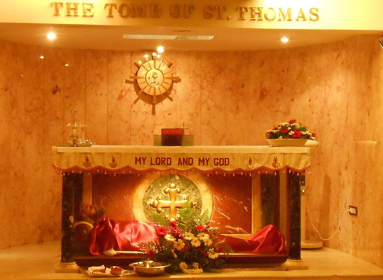 The tomb of St. Thomas the Apostle in Mylapore, India   © Mathen Payyappilly Palakkappilly (User:Achayan) / WikiCommons