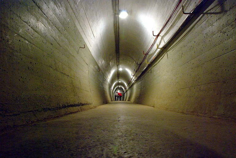 Tunnel in Wrights Hill Fortress