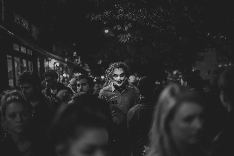 Constantinos Sofikitis, Halloween Protagonists, 2017 | © Constantinos Sofikitis, Greece, 1st Place, Open, Street Photography, 2017 Sony World Photography Awards
