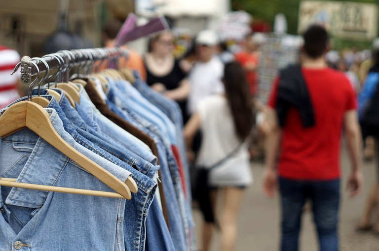 Vintage denim at Mauerpark ©