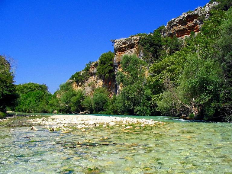 The Acheron river, Greece