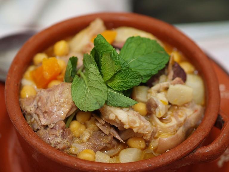 Portuguese cozido with chickpeas