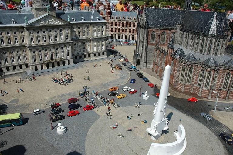 The miniature version of Dam Square at Madurodam