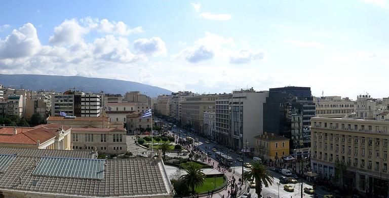 View of Panepistimiou Street   © Lapost/WikiCommons