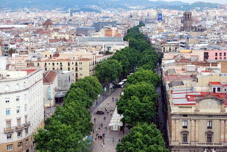 Barcelona's La Rambla © Nikos Roussos