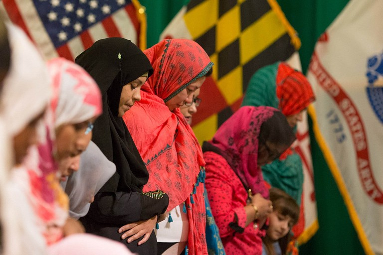 Muslimwomen praying