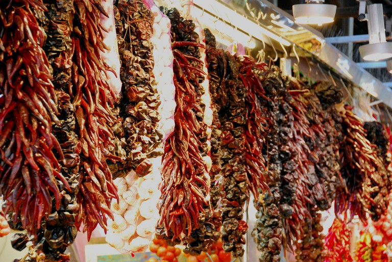 A selection of dried peppers and chilis © Robert Young