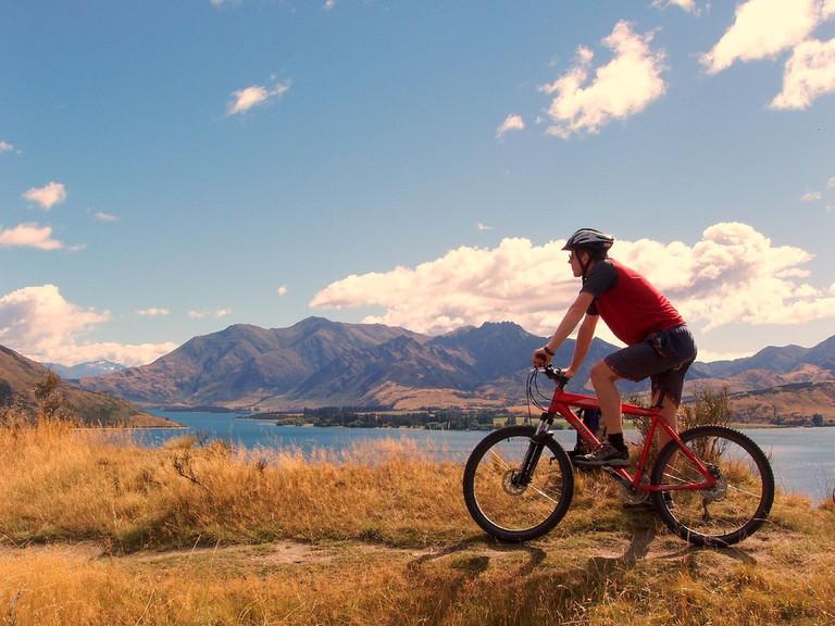Mountain biking near Wanaka