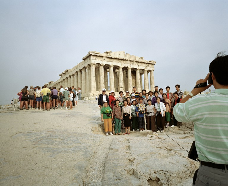 Martin Parr, Greece, Athens, Acropolis from 'Small World' series, 1991 | © Martin Parr, Magnum Photos, Rocket Gallery