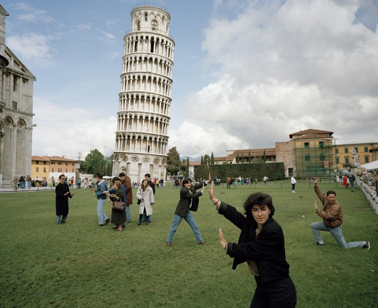Martin Parr, Italy, Pisa, The Leaning Tower of Pisa from 'Small World' series, 1990 | © Martin Parr, Magnum Photos, Rocket Gallery
