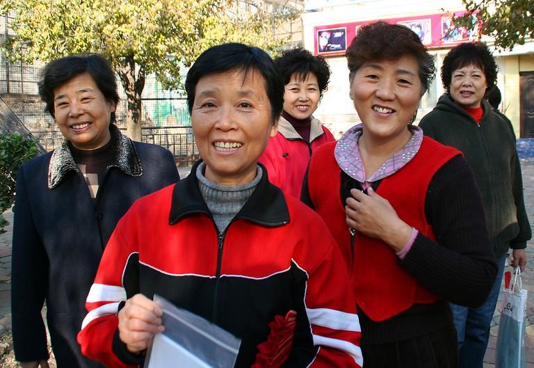 Locals in Renmin Park