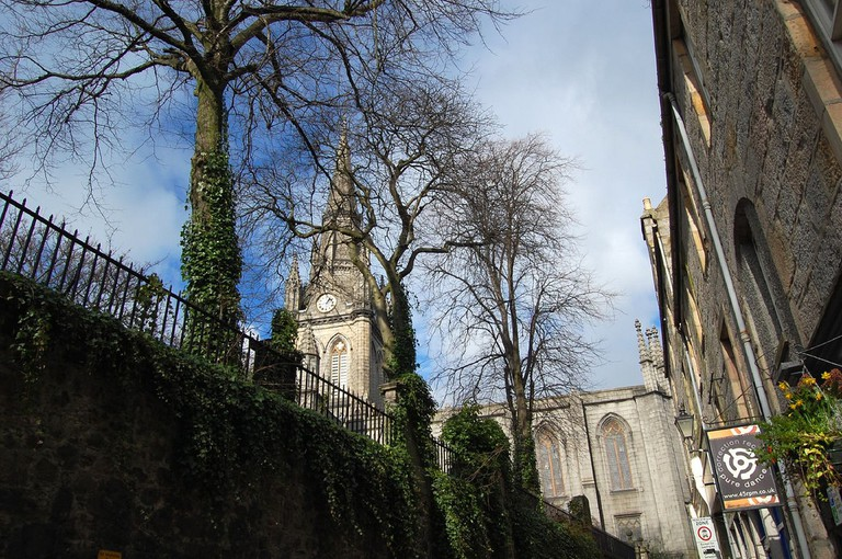 The Kirk of St. Nicholas Uniting, Seen From Correction Wynd