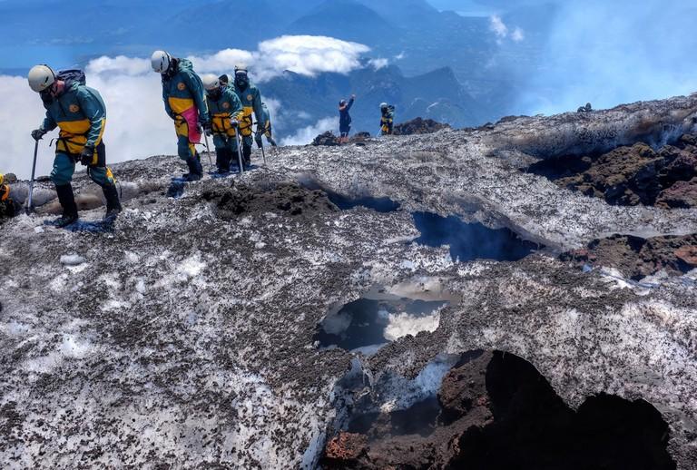 Climbing Villarrica