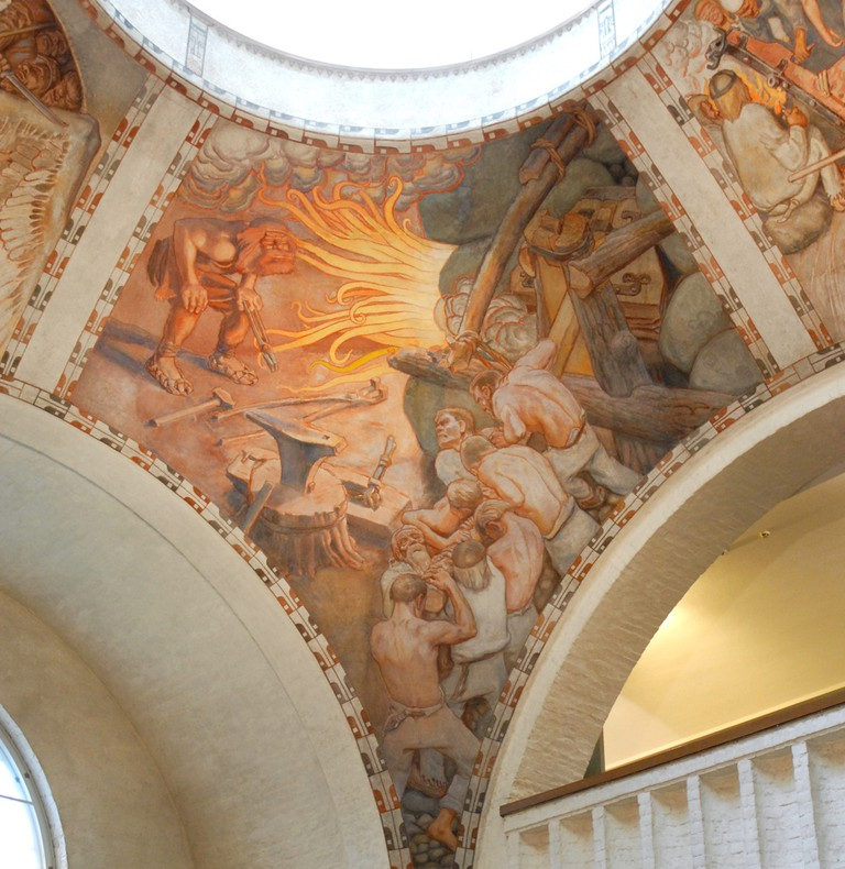 Part of the Kalevela mural at the National Museum/ Jean-Pierre Dalbéra/ Flickr