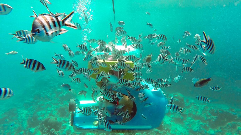 Scooter under water|© The Travel Manuel/FlickR