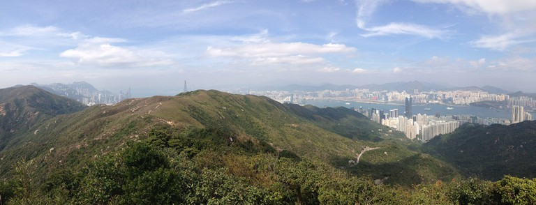 A hiking trail in Hong Kong