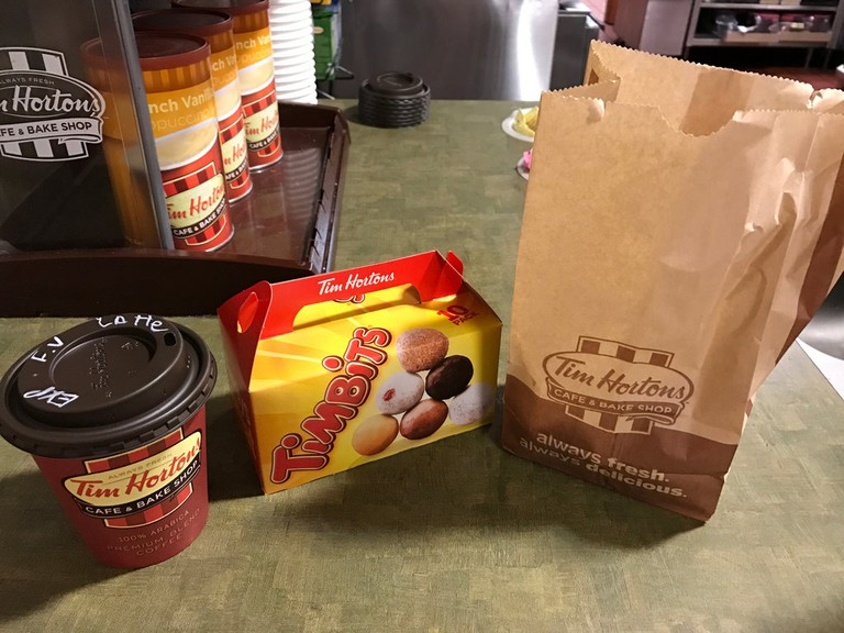 A normal Tim Hortons order