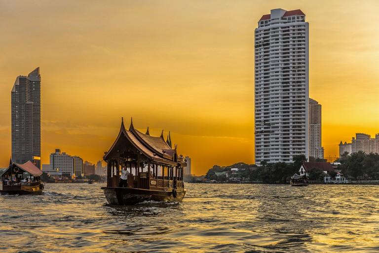 Cruising on the river in Bangkok, Thailand