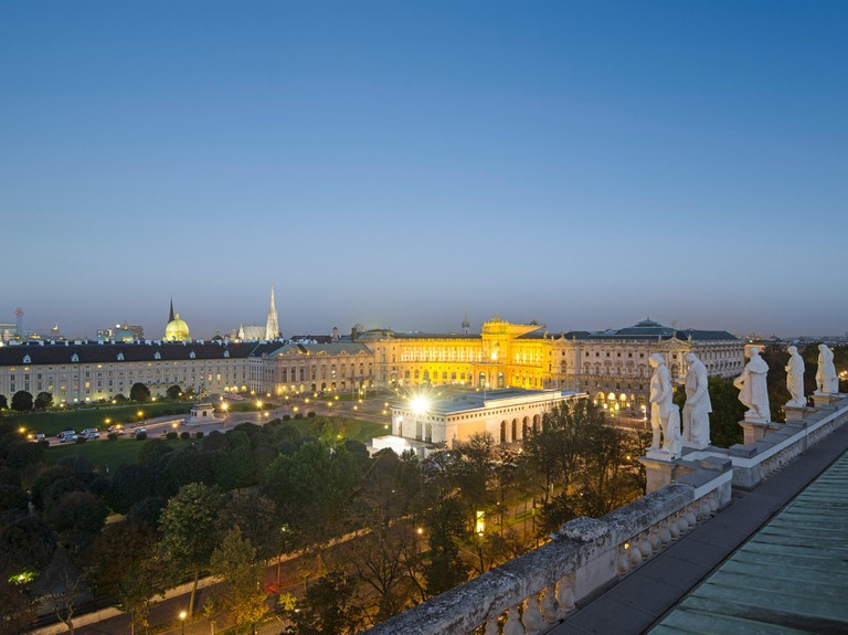 View to Hofburg – Imperial Palace, Heldenplatz, where the balls takes place