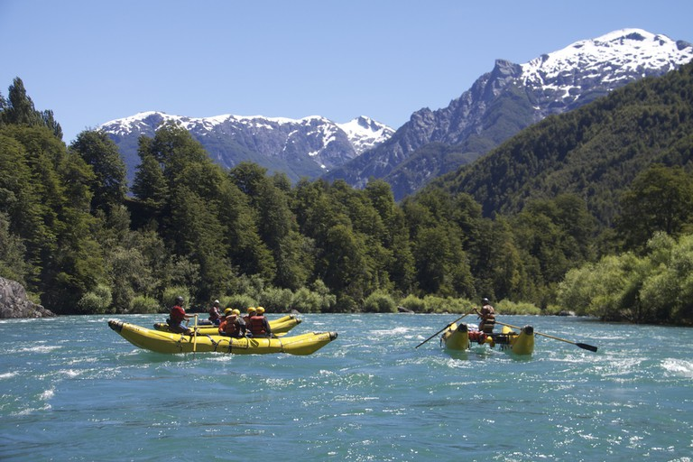 Rafting in Chilean Patagonia