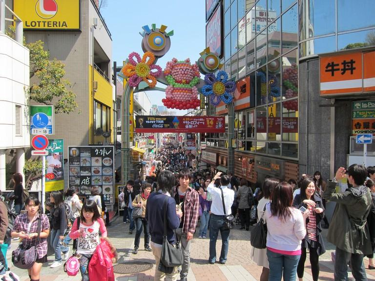 Takeshita-dori shopping street in Harajuku