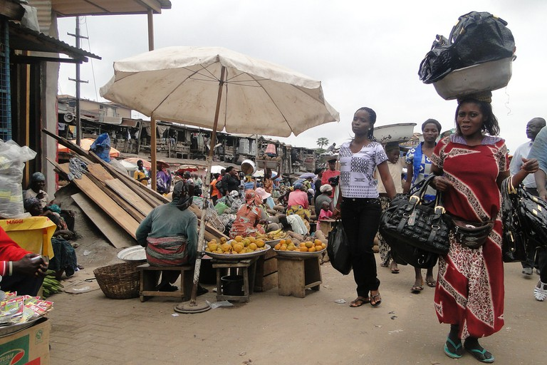 Street Scene in Kejetia Market – Kumasi – Ghana