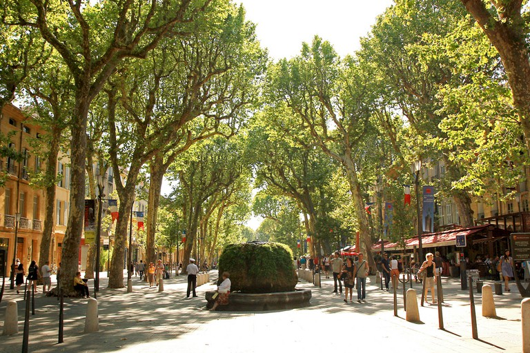 The Cours Mirabeau is the main iconic boulevard through town and should be the starting point for any walking tour | © Andrea Schaffer/Flickr