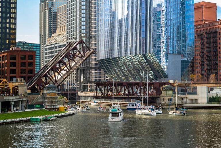 150 North Riverside   © Nick Ulivieri/Courtesy of Goettsch Partners, Inc.