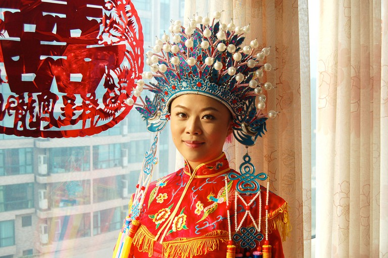 Traditional Chinese wedding attire | ©Cormac Heron/Flickr