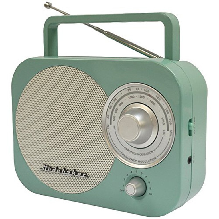 Studebaker Portable AM/FM Radio in Teal STUD-SB2000TE, $26