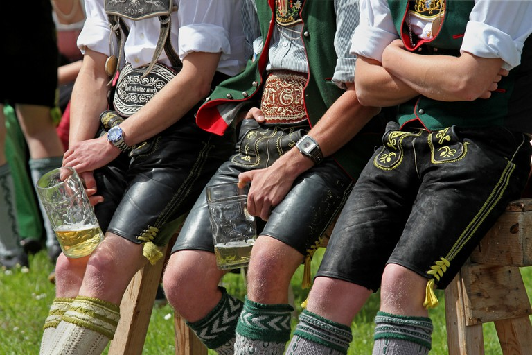Lederhosen-clad men