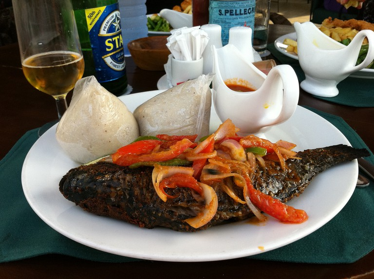 Grilled tilapia with banku | © sshreeves/flickr