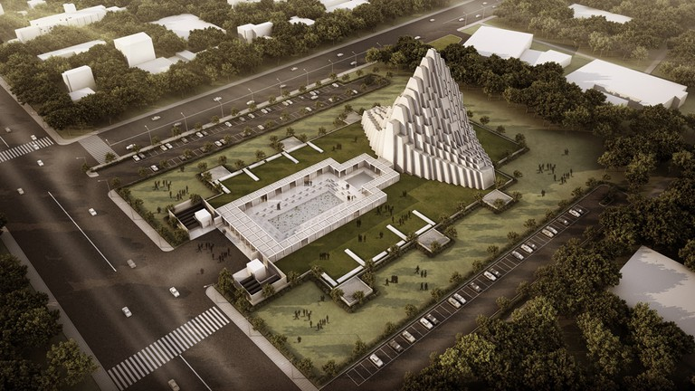 Aerial view for ISKCON Temple
